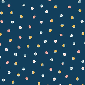 Small Collage Dots Blue