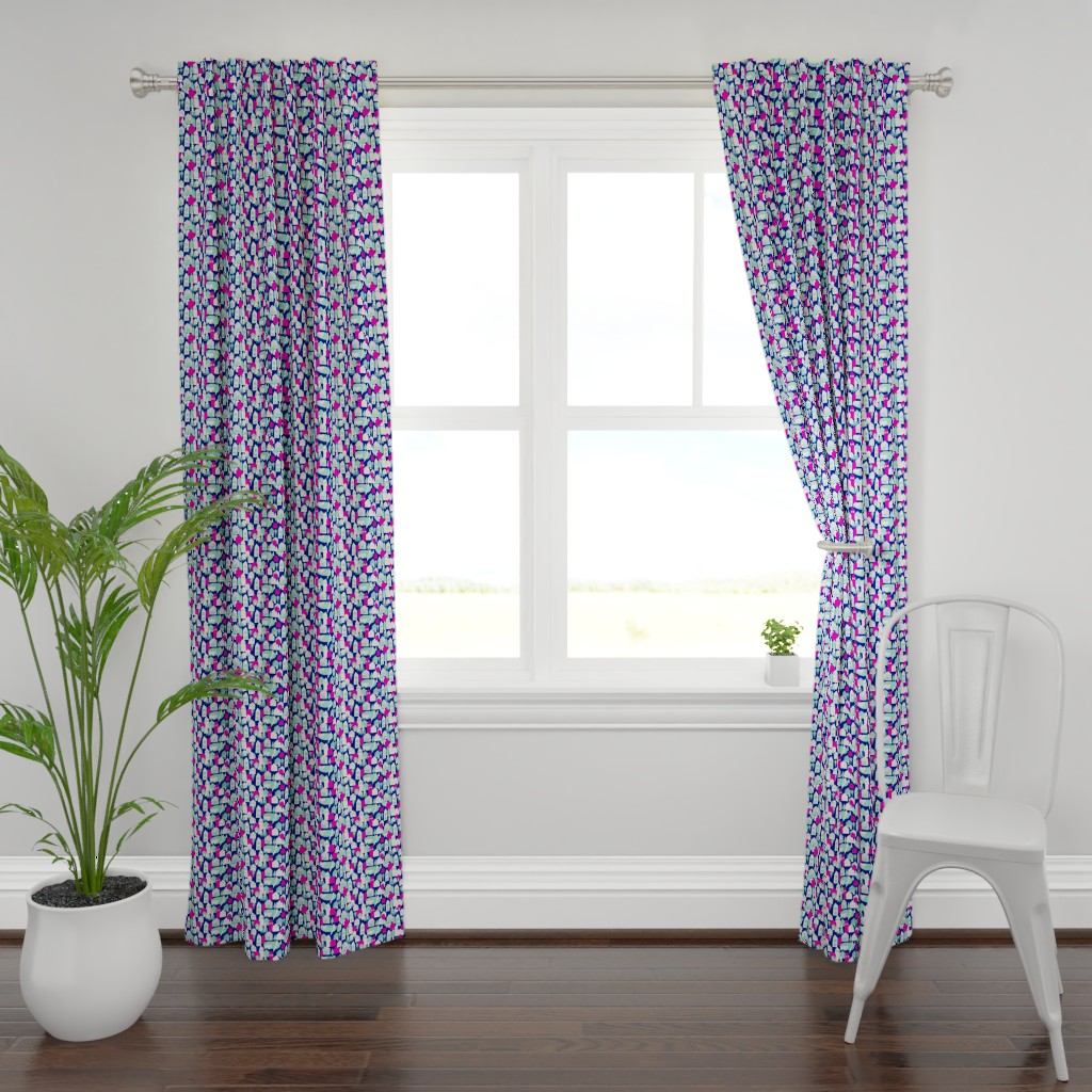 Plymouth Curtain Panel featuring Village_boho by alexmichiardi
