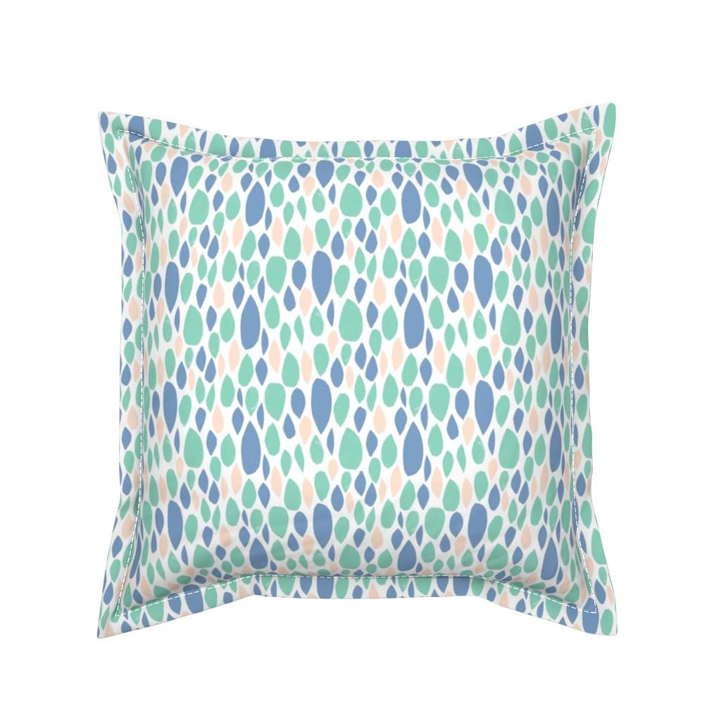 Serama Throw Pillow featuring leaves_pastel by alexmichiardi