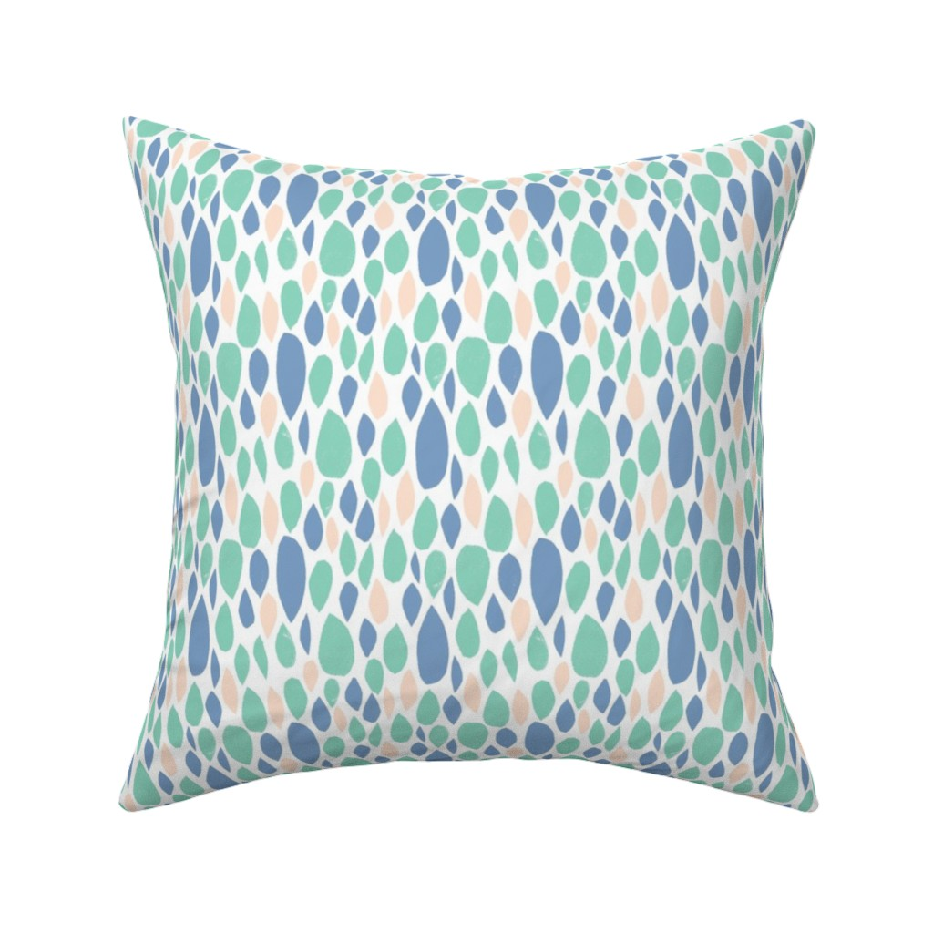 Catalan Throw Pillow featuring leaves_pastel by alexmichiardi