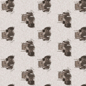 """3.5"""" Old Tractors - soft brown - rot"""
