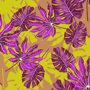 Purple Big Leaves