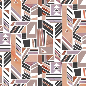 Taupe Tribal Collage