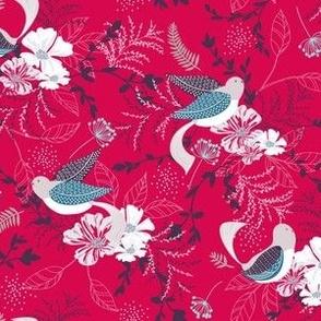 Chrysanthe Blossom Garden-HotPink