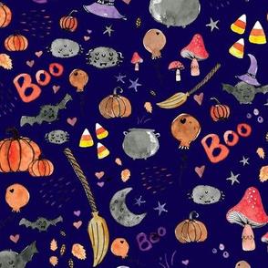Spooky Halloween Watercolor pattern