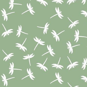 Dragonflies of White on Sage