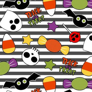 Trick or Treat Party - BW Stripes