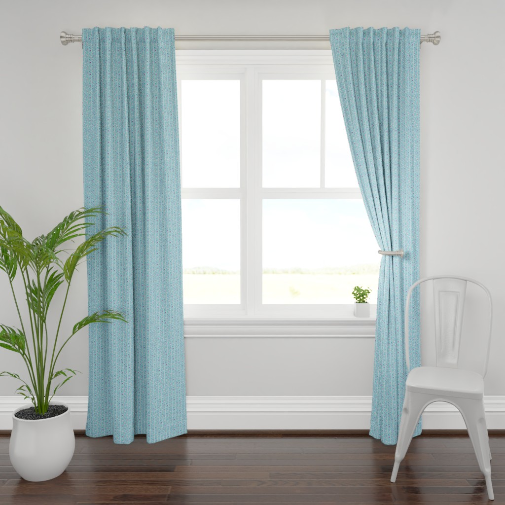 Plymouth Curtain Panel featuring branches_blue by alexmichiardi