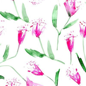 Magic flowers • watercolor pink florals