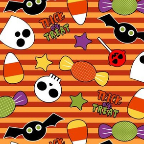 Trick or Treat Party - Orange Stripes