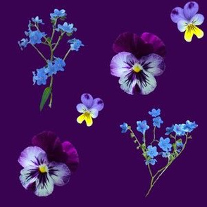 Fall Wildflowers Deep Purple