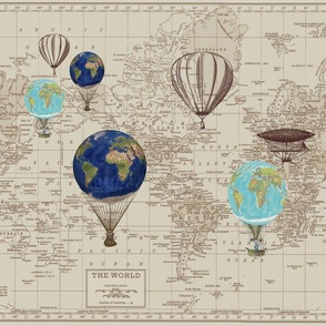 Maps with Smaller Hot air balloons