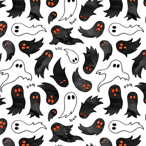 Ghosts with glowing eyes
