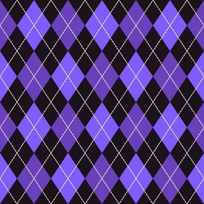 Halloween dashed argyle purple, black carnival costume Fabric