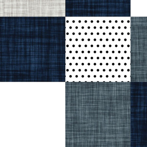 """8"""" squares // slate and navy wholecloth"""