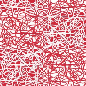 Checkered random rope: red and white by Su_G_©SuSchaefer