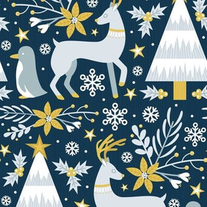 Winter Forest (Gold Dark)