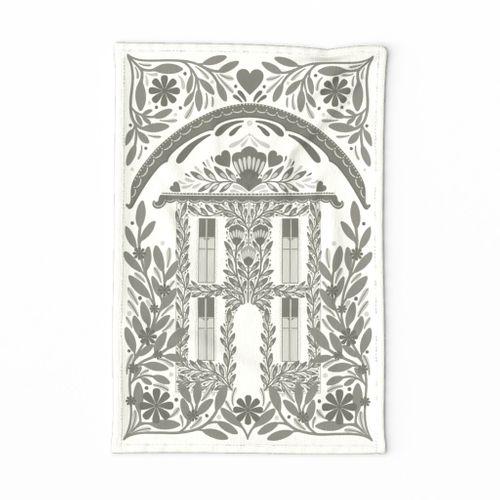 Cottage Garden Tea Towel Linen