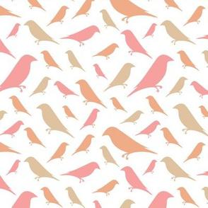 Small Garden Birds - Pink Neutrals