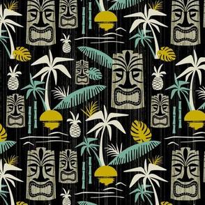 Island Tiki - Black Medium Scale