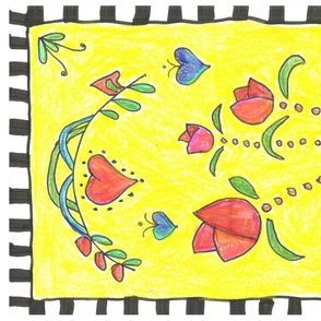 folk art colored pencil