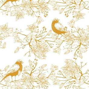 Birds in the bush - Yellow