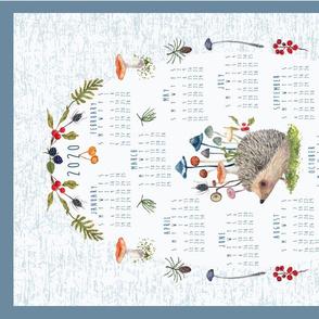 Four teatowel layout 2020 calendar tea towel