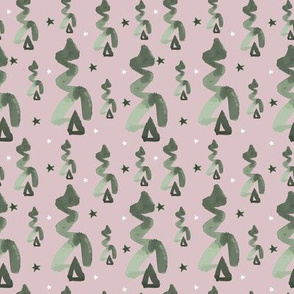 abstract christmas tree in pink