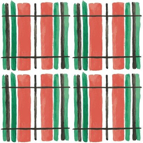 christmas plaid in red and green