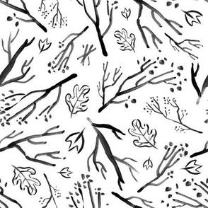Autumn Twigs - black and white