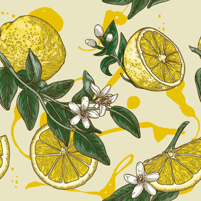 Traditional Citrus Lemon Pattern