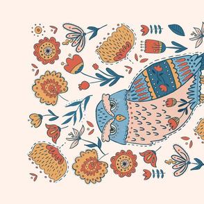 Folk Art Owl