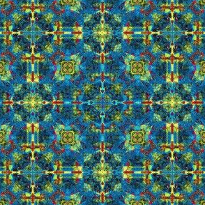 Blue Hibiscus Blanket
