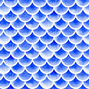watercolor scales - french ultramarine blue 1
