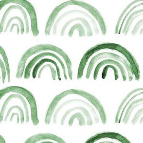 Khaki rainbows • watercolor green archs for kids, neutral nursery