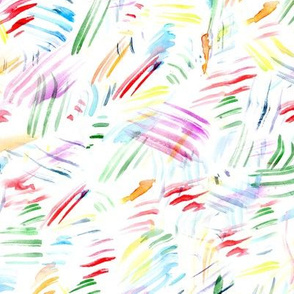 Rainbow brush strokes • watercolor painted mess