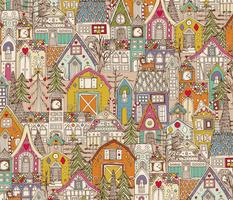 vintage gingerbread town