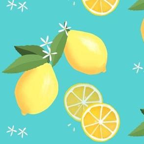 lemon love on aqua