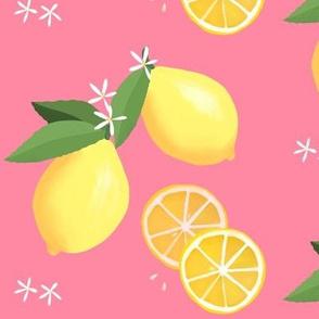 lemon love on pink