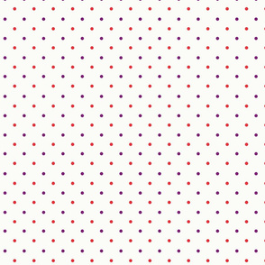 Red and purple dots circles seamless pattern over light yellow background seamless pattern