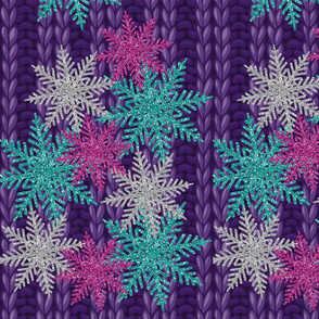 snowflakes on knit