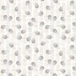 Grey seashells and sand