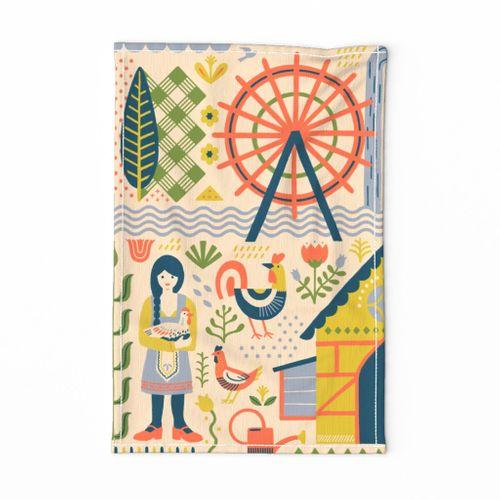Feather & Folk Tea Towel