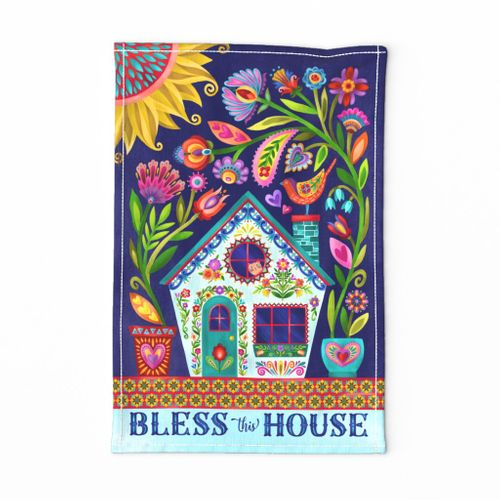 bless this house tea towel