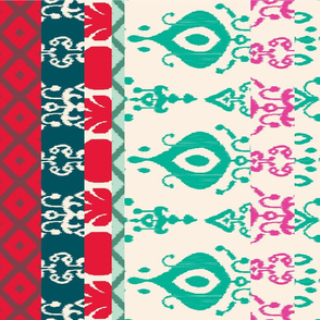 Christmas Ikat Tea Towel