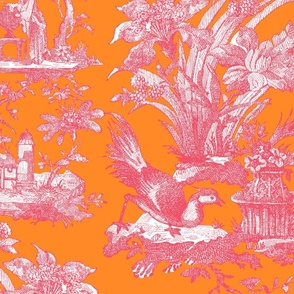 Chinoiserie Toile ~ Orangerie  and Poissy