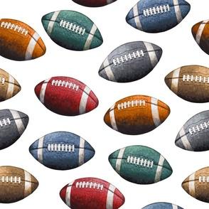 Football - Sports Balls on White