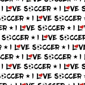 I Love Soccer Star Heart