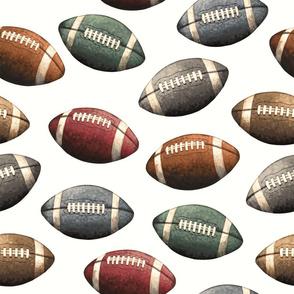 Vintage Football - Sports Balls on Off White