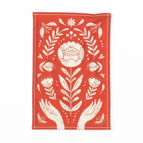 Folk Art Tea Towel-01